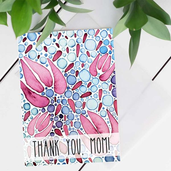 Printable Thank you Cards, Thank you Mom