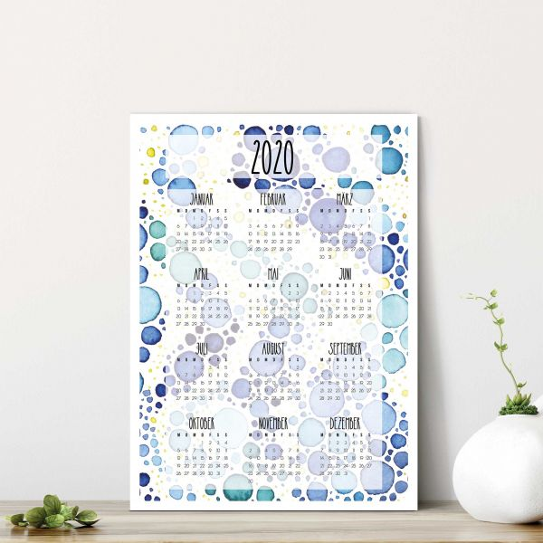 Printable Calendar 2020 Steltuna Vertical