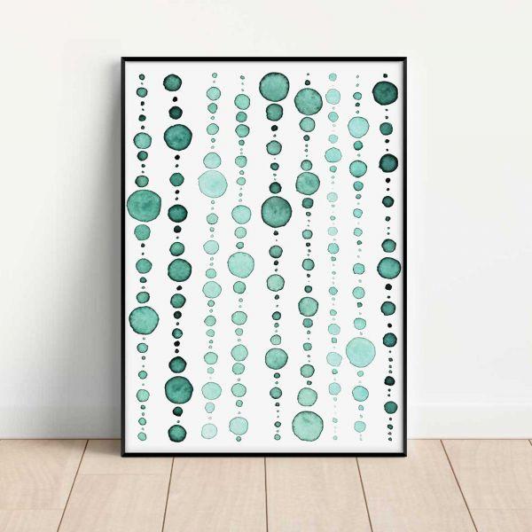 Kunstposter 'Moss Green II' als grüne Deko im Wohnzimmer