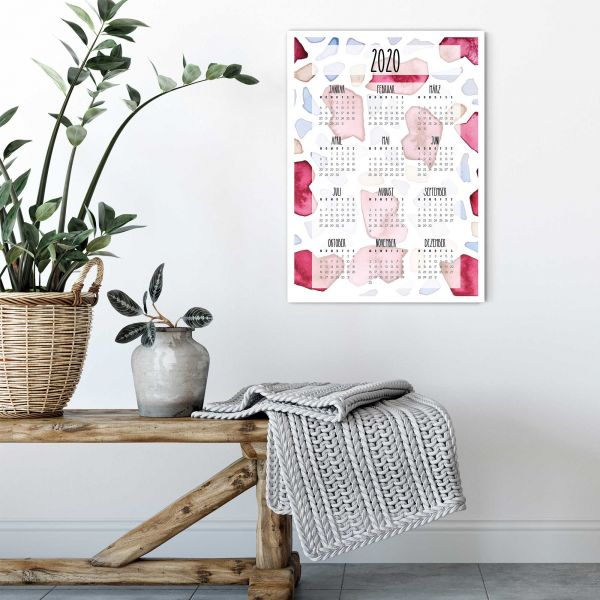 Printable Calendar 2020 Pomum with Vertical Layout
