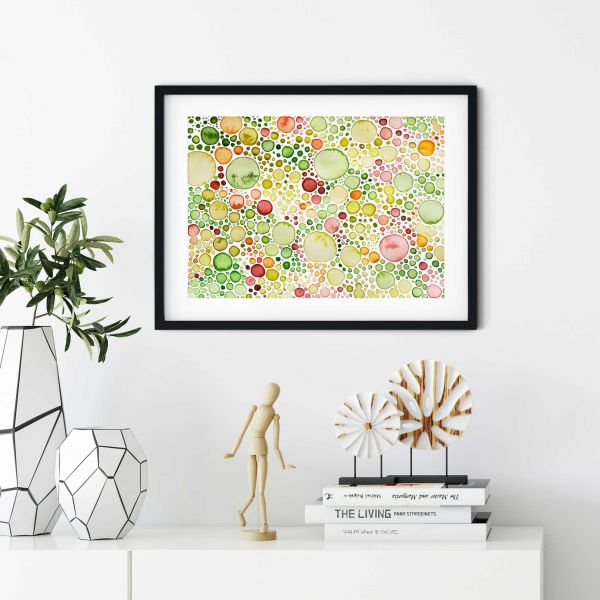 Over the Couch Decor, Art Print Lemna Horizontal
