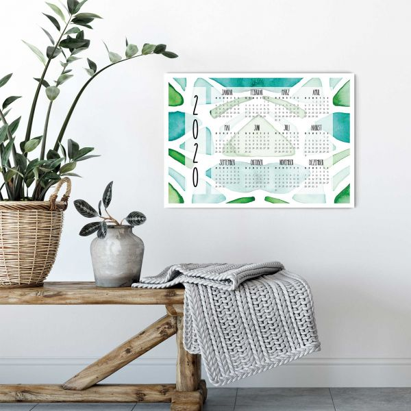 Jahreskalender 2020 PDF Nelumba Ficus Horizontal