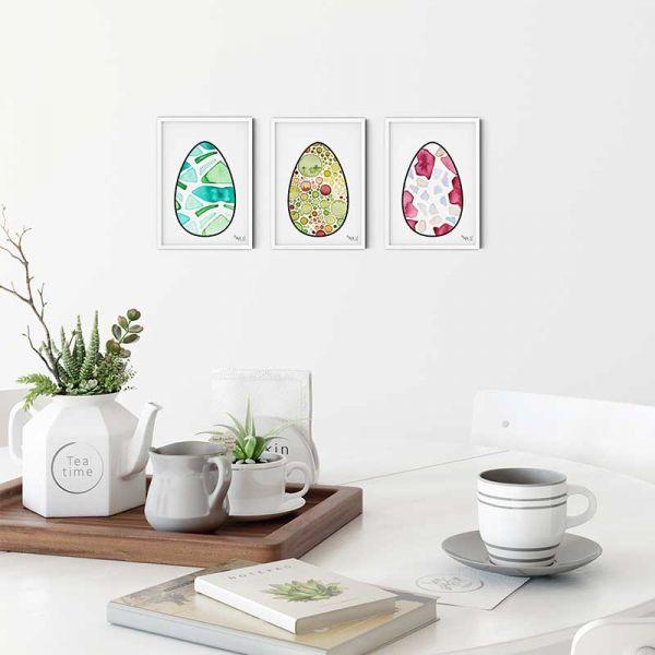 Printable Art Easter Eggs Set