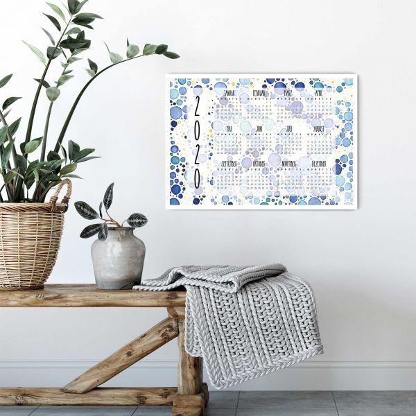 2020 Kalender Steltuna horizontales Layout