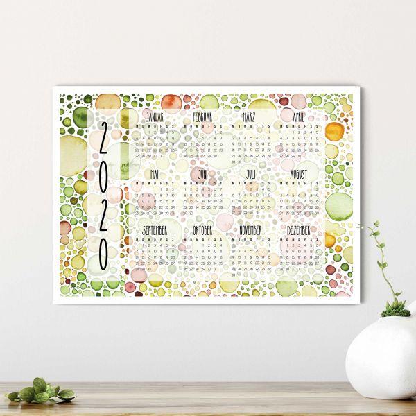 Kalender zum Ausdrucken 2020 Lemna Querformat
