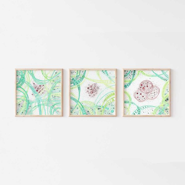 Set of 3 Art Prints, Modern artworks of the 'Hold Space' Series
