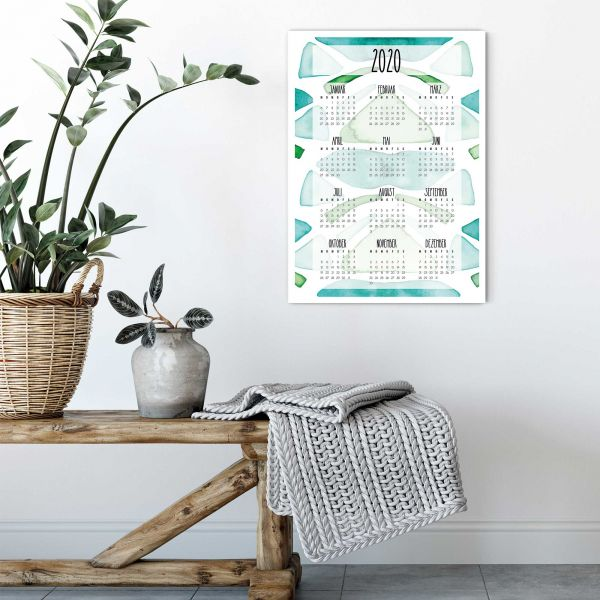 2020 Wall Calendar Nelumba Ficus Vertical Layout