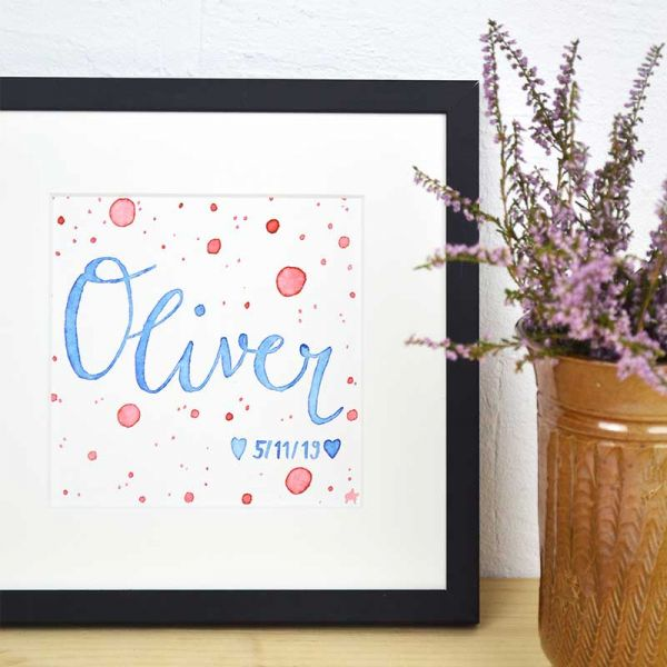 Custom Name Sign for a Nursery in Blue and Red