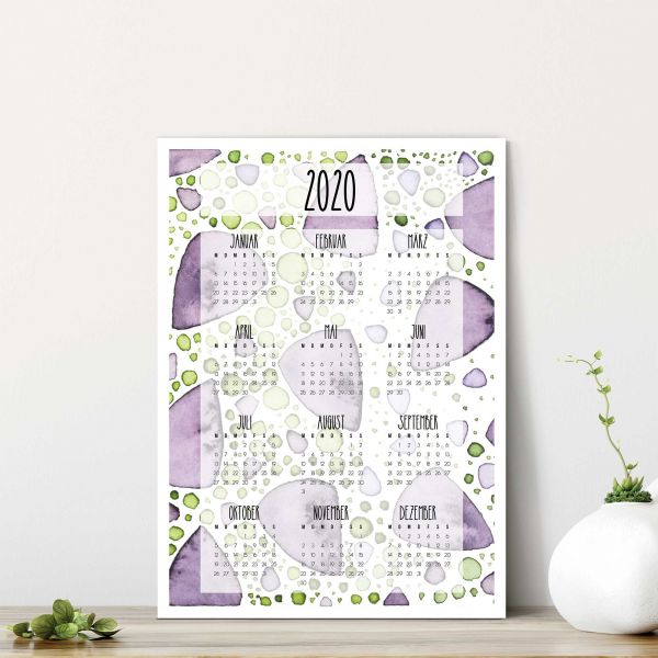 Kalender 2020 PDF Crocu im Hochformat